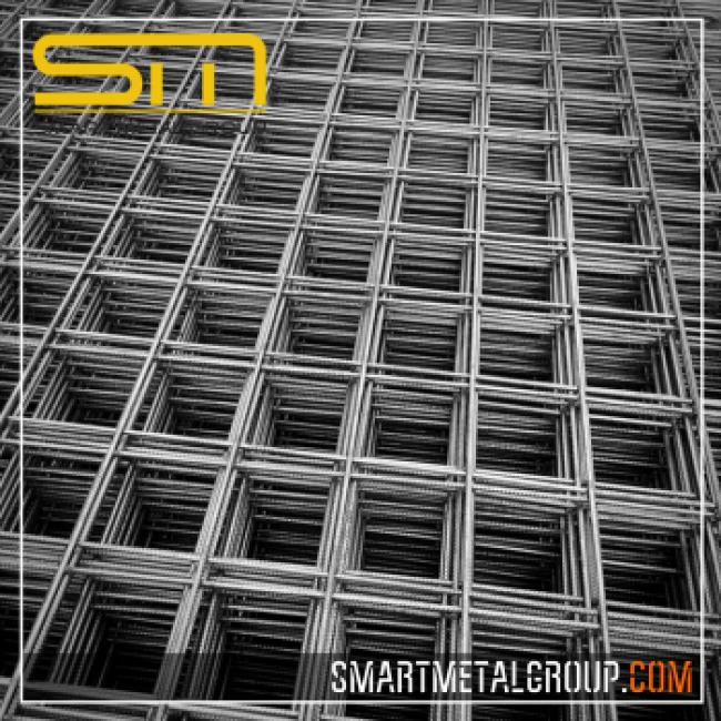 Арматурна мрежа ⌀10 квадрат 15х15мм размер на скарата 6х2м 1бр