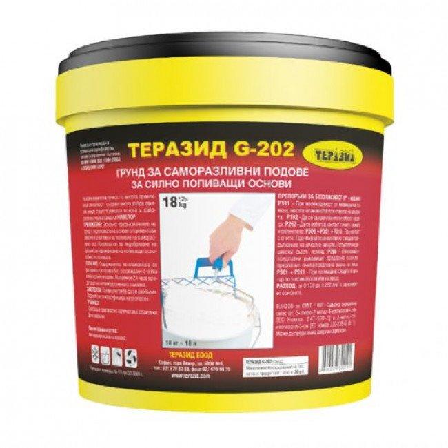 Teразид G-202 – грунд за саморазливни подове при силно попиващи основи 18кг.