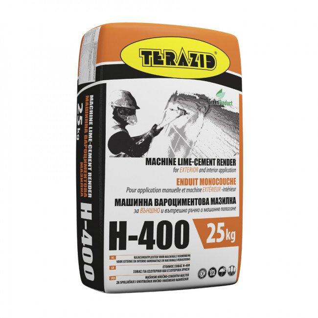 H-400 – вароциментова мазилка за външно приложение 25кг.