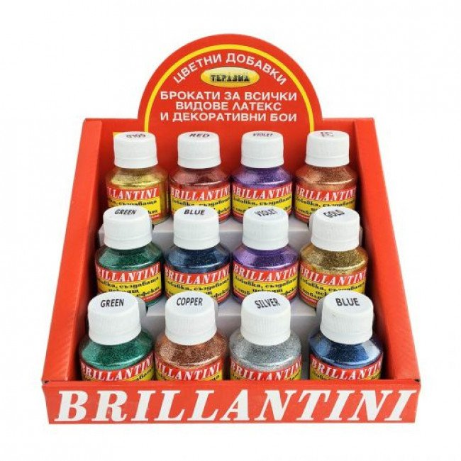 Brillantini – брокати за латекс и декоративни бои