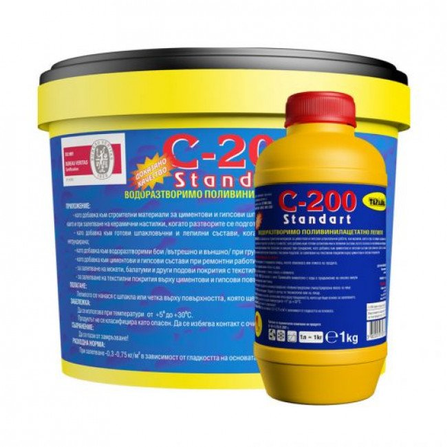 C-200 – водоразтворимо поливинилацетатно лепило 0,250кг.