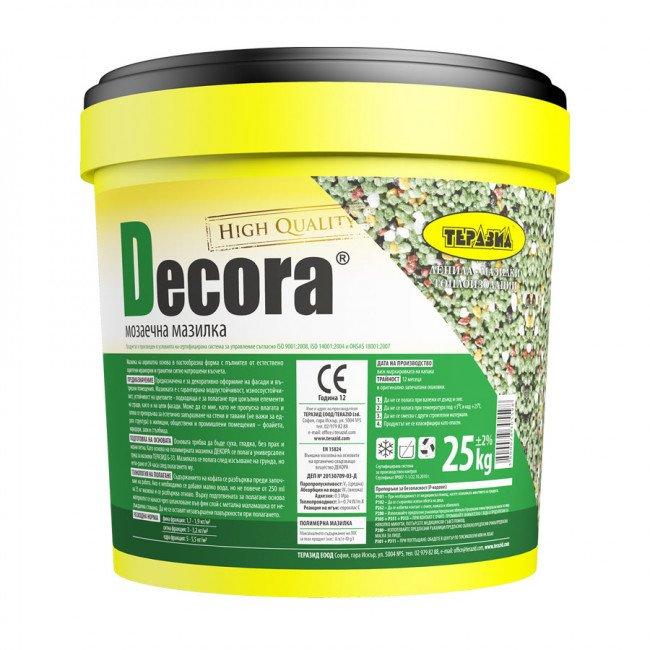 Decora – декоративна мозаечна мазилка 25кг.