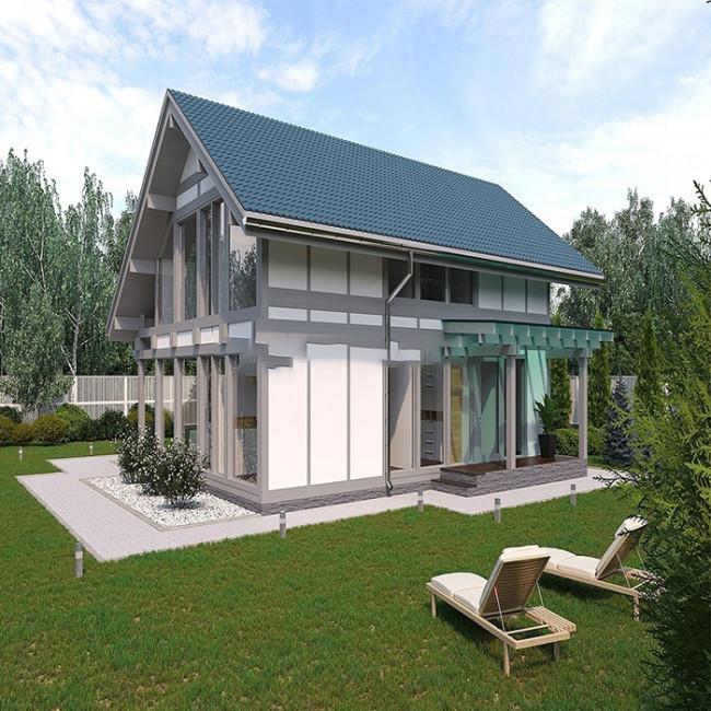 Дървена къща модел KB001