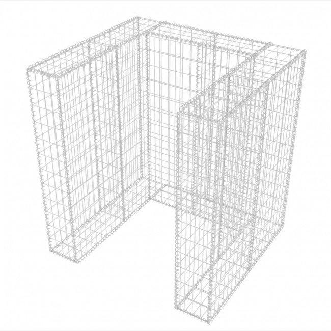 Габион за ограждане на кофа за смет 110x100x120см. ф4мм.