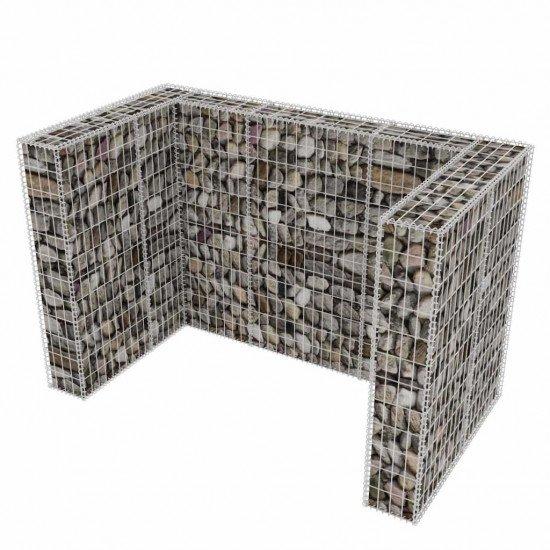 Габион за ограждане на кофа за смет Височина 120см. ( Дължина 180см. / Ширина 100см. ) ф4мм.