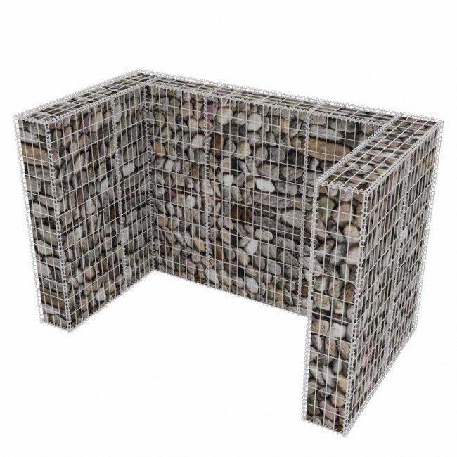 Габион за ограждане на кофа за смет 180x100x120см. ф4мм.